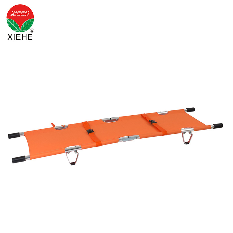 Medical Emergency Aluminum Alloy Folding Stretcher For Outdoor